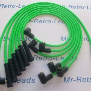 Green 8mm Ignition Leads Reliant Scimitar V6 Essex Tvr As Kawasaki Bs381-kawi