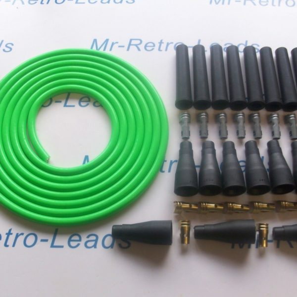 Green 8mm Performance Ignition Lead Kit V8 Kit Car 6 Meters As Kawasaki Green