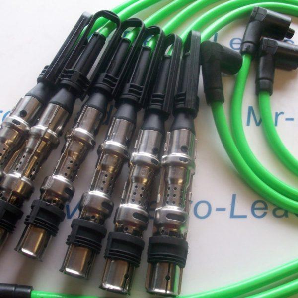 Green 8mm Performance Ignition Leads Vw Golf Bora 2.8 24v V6 Ayl Aqp Bs381-kawi