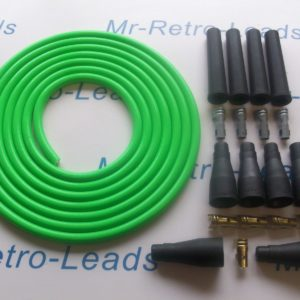 Green 8mm Performance Ignition Lead Kit 4 Cyl Kit Car 3 Meters As Kawasaki Green