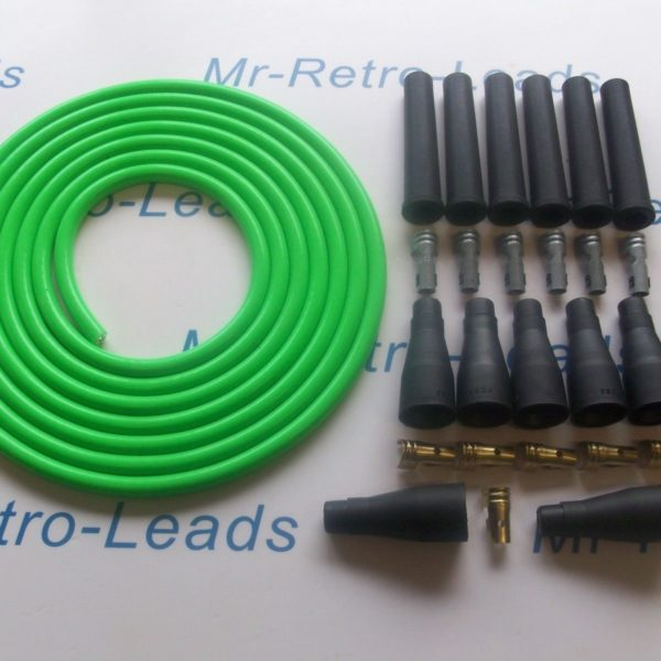 Green 8mm Performance Ignition Lead Kit 6 Cyl 4 Meters Kit Car As Kawasaki Green