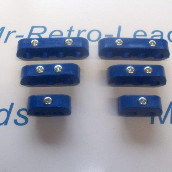 Blue 8.5mm Spark Plug Ignition Lead Separator Holder Clamp Spacer For The V8 Car