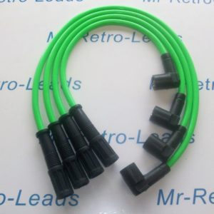 Green 8mm Ignition Leads Fiat Cinquecento Seicento 1.1 Sporting Kawasaki Green