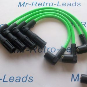 Green 8mm Ignition Leads For Fiat Punto 1.4 Gt Turbo Facet As Kawasaki Green Ht