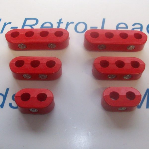 Red 8.5mm Spark Plug Ignition Lead Separator Holder Clamp Spacer For The V8 Cars