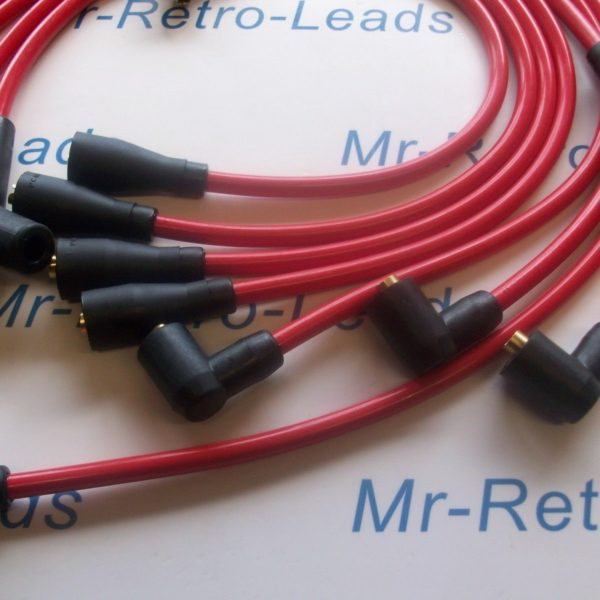 Red 8mm Performance Ignition Leads For Tvr Chimaera V8 Lucas Distributor Ht..