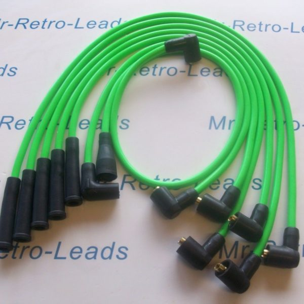 Bright Green 8mm Ignition Leads Ford Capri 2.8 Cologne V6 As Kawasaki Green Ht