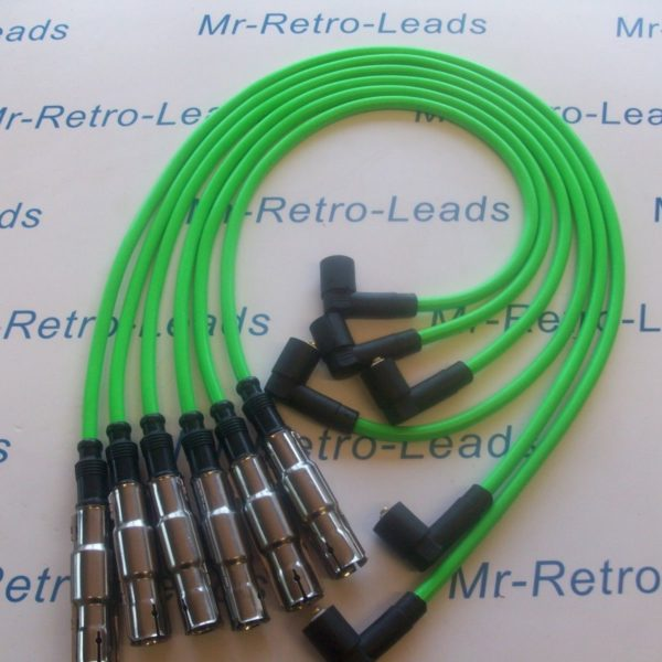 Bright Green 8mm Performance Ignition Leads Vw Passat 2.8 Vr6 Obd2 Bs381-kawi