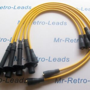 Yellow 8mm Performance Ignition Leads For Porsche 356 / 912 Quality Hand Built