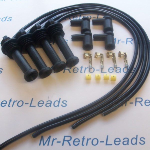 Black 8mm Performance Ignition Lead Kit Ford Zetec Black Top Kit-car Part Built