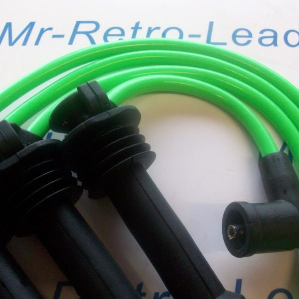 Lime Green 8mm Performance Ignition Leads Ford Zetec Black Top As Kawasaki Green