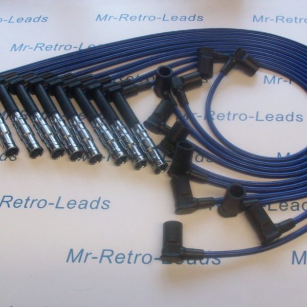 Blue 8mm Performance Ignition Leads For Mercedes 500 420 400 E G S Sl M119 Ht