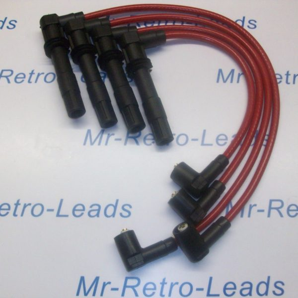 Red 8mm Performance Ignition Leads For Vw Lupo 1.4 Sport Gti 1.6 16v Quality Ht