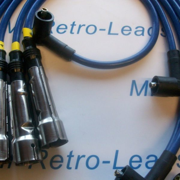 Blue 8mm Performance Ignition Leads For Hagglunds Bv206 Petrol V6 Engine 1985 >