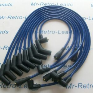 Blue 8mm Performance Ignition Leads For Tvr Chimaera V8 Lucas Distributor Ht..