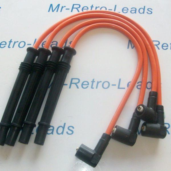 Orange 8mm Performance Ignition Leads For Clio Twingo 1.2 Turbo Modus D4f 16v