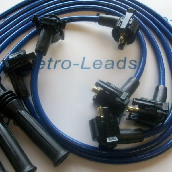 Blue 8mm Performance Ignition Leads For The Cosworth Scorpio 2.9 24v V6 Quality