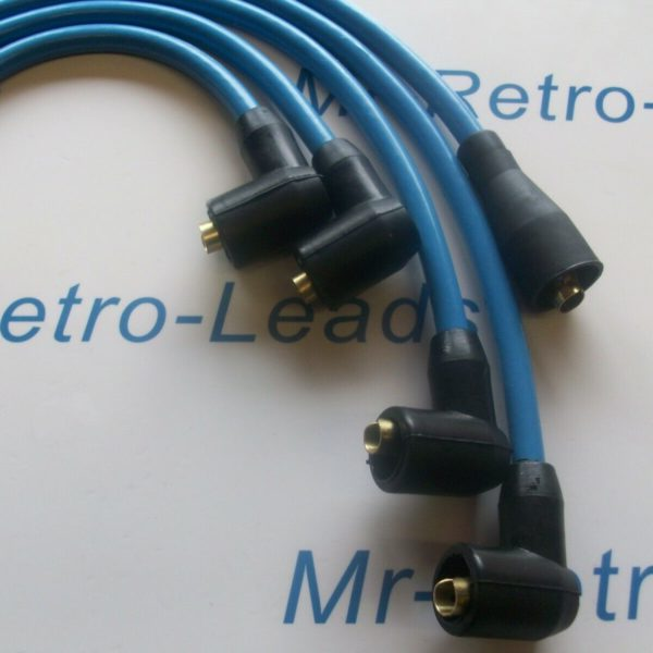 Light Blue 8mm Performance Ignition Leads For Triumph Tr3 Tr4 Tr4a Quality Leads