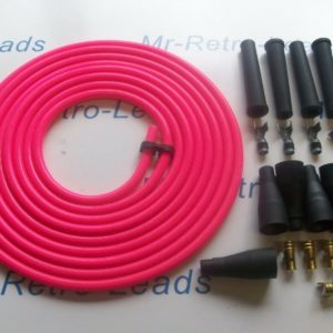 Pink 8mm Performance Ignition Lead Kit For The 4 Cil Kit Car 3 Meters Quality Ht