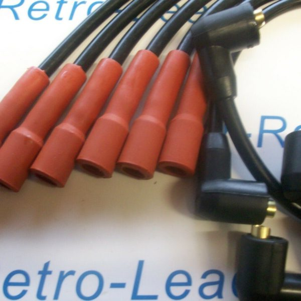 Black 8mm Performance Ignition Leads Cortina 2.3 V6 Oe Retro Look Quality Leads