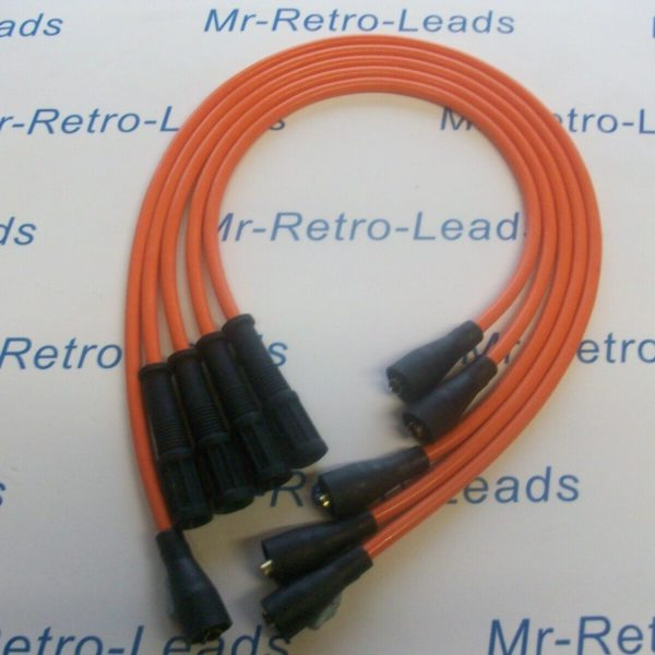 Orange 8mm Performance Ignition Leads For Ritmo Abarth Argenta Mirafiori 131 132