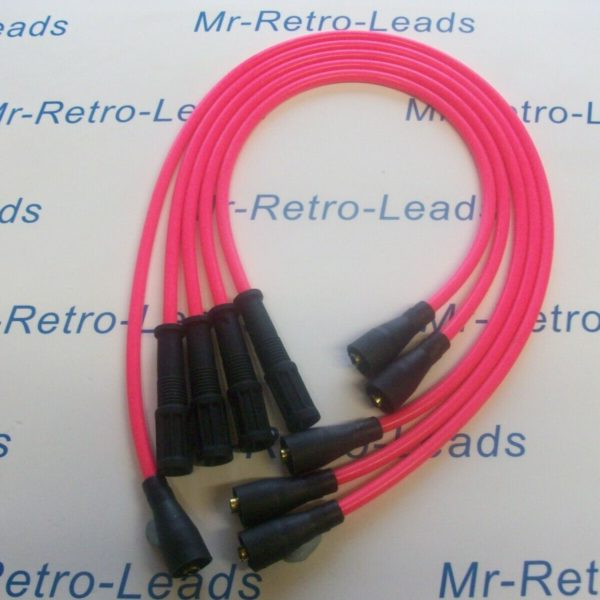 Pink 8mm Performance Ignition Leads For Ritmo Abarth Argenta Mirafiori 131 132