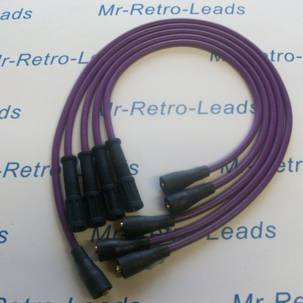 Purple 8mm Performance Ignition Leads For Ritmo Abarth Argenta Mirafiori 131 132