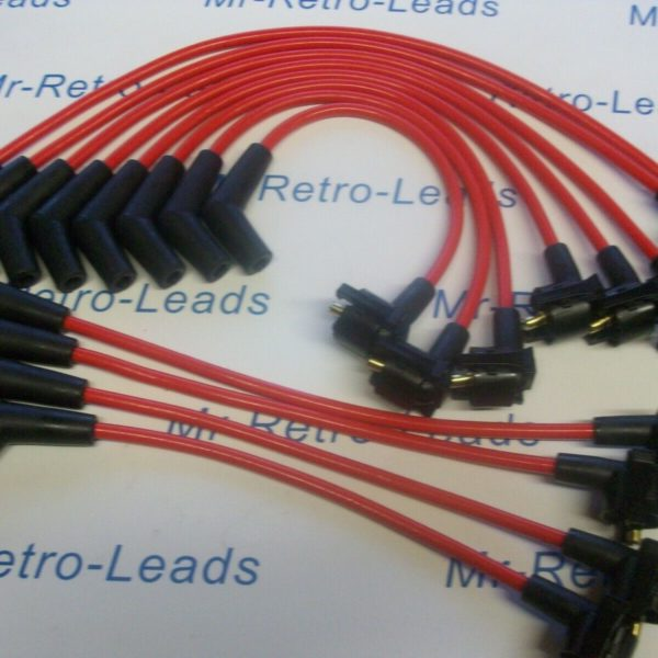 Red 8mm Performance Ignition Leads For Daimler Double Six V12 6.0 Litre Ht