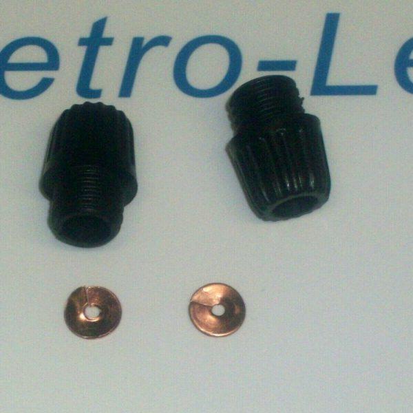 2 X Acorn Nut Short Screw Cap 2 X Split Washers K2f Magneto Motorcycles Quality