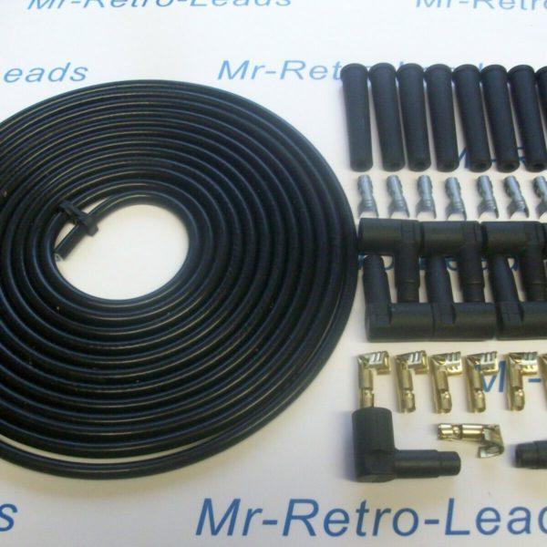 All Black 8mm Performance Ignition Lead Kit For Kit Cars V8 6 Meters Kit-car Ht