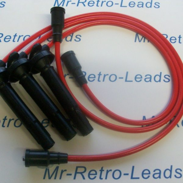 Red 8mm Performance Ignition Leads Galant Vr-4 2.5i 24v Q/cam Quality Ht Leads