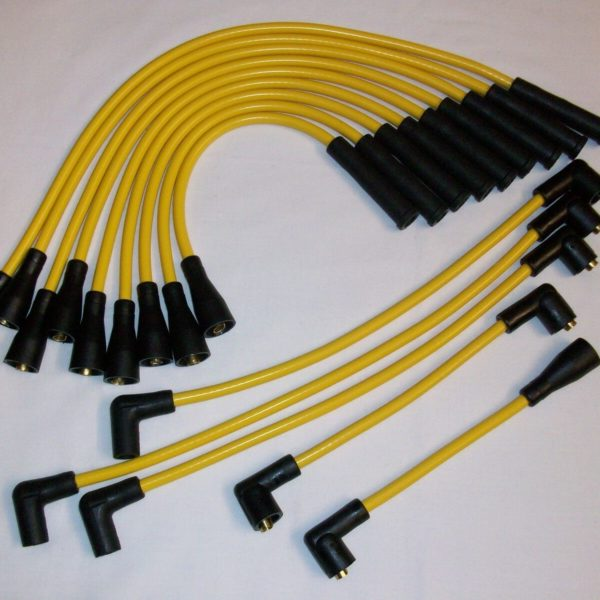 Yellow 8mm Performance Ignition Leads Jaguar Daimler V12 Series 3 He Xj12 Xj6 ..