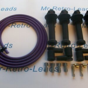 Purple 8mm Performance Ignition Lead Kit For Silver Top Kit Cars 117mm Boots