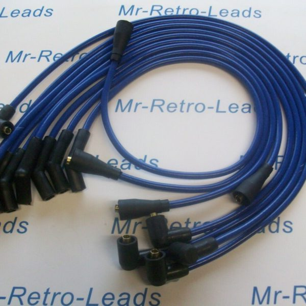 Blue 8mm Performance Ignition Leads For Rover Sdi 3.0 V8 Quality Hand Built Ht